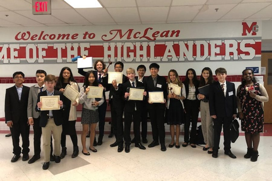 Longfellow's Model UN team gaveled and debated their way to Best Middle School at the McLean Model UN Conference.