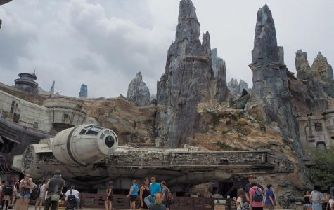 "Eager fans explore the new expansion to Disney World, ""Star Wars: Galaxy's Edge"". The addition cost over $1 billion dollars and has been highly anticipated by fans of the Star Wars franchise."