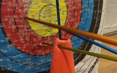 The archery unit is part of the 8th grade curriculum in the LMS PE Department
