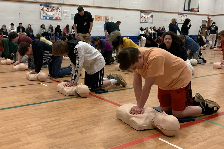 Every student in Longfellow was trained in the lifesaving technique of CPR this year.