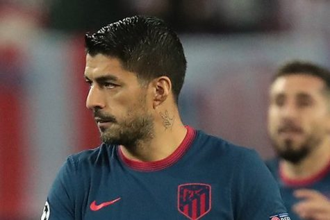 Suárez with Atlético Madrid in 2020