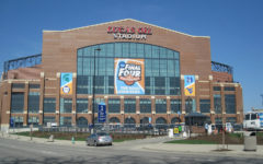 Lucas Oil Stadium,  where many of the 2021 March Madness games were played, is the spot where Jalen Suggs hit his infamous buzzer beater.